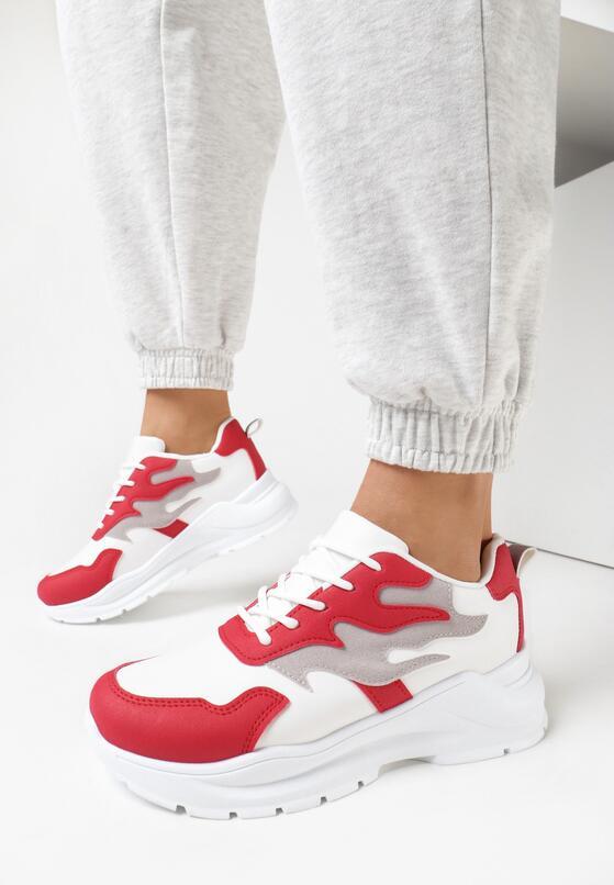 Biało-Czerwone Sneakersy Arlyse