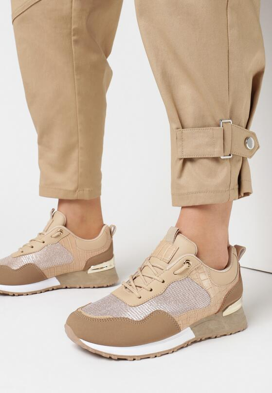 Beżowe Buty Sportowe Saphielle