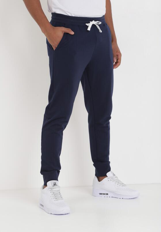 Granatowe Spodnie Chenefer