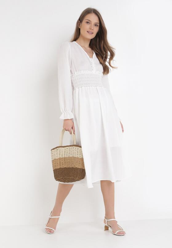 Biała Sukienka Kelkian