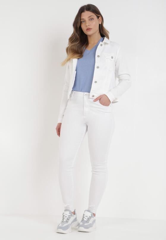 Białe Spodnie Skinny Genimere