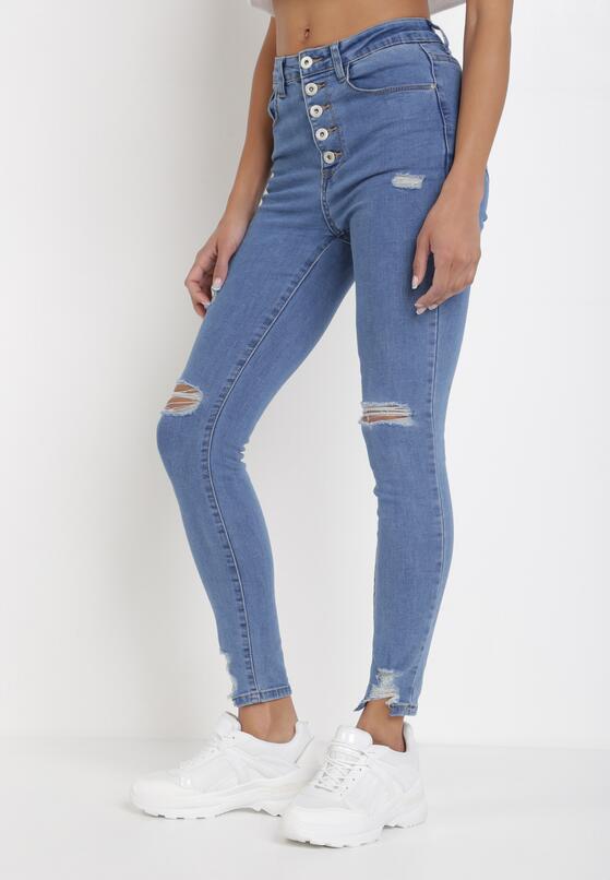 Niebieskie Jeansy Skinny Elinlea