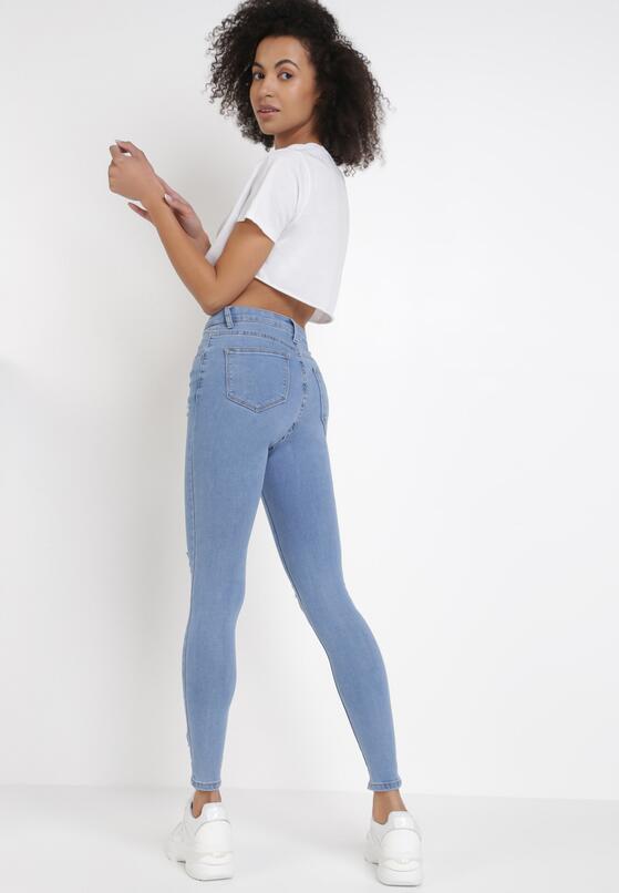 Niebieskie Jeansy Skinny Jyniana