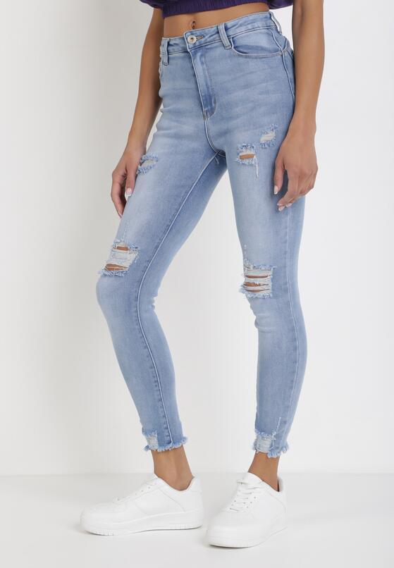 Niebieskie Jeansy Skinny Mhyryra
