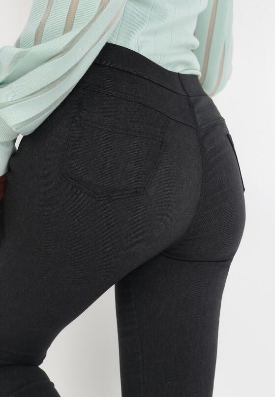 Czarne Spodnie Larailis