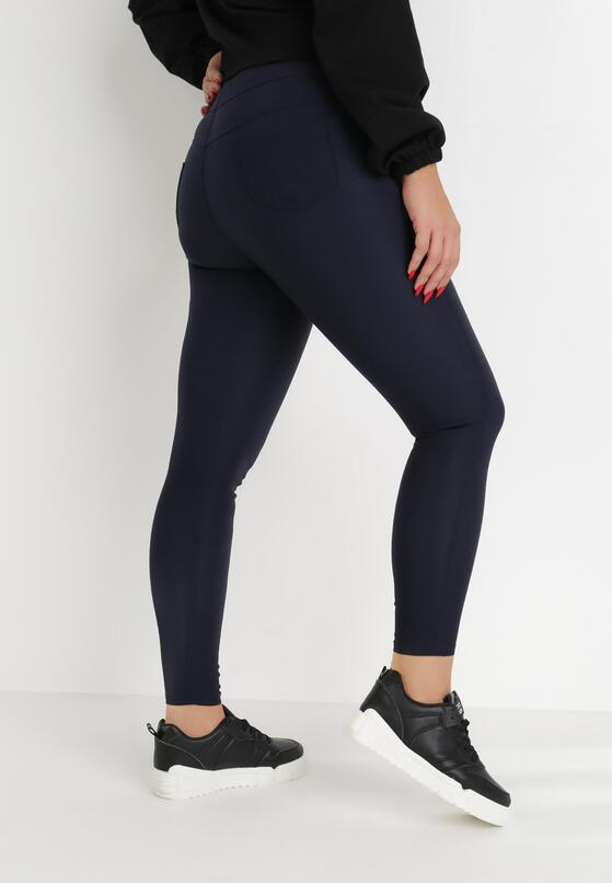 Granatowe Spodnie Skinny Sachael