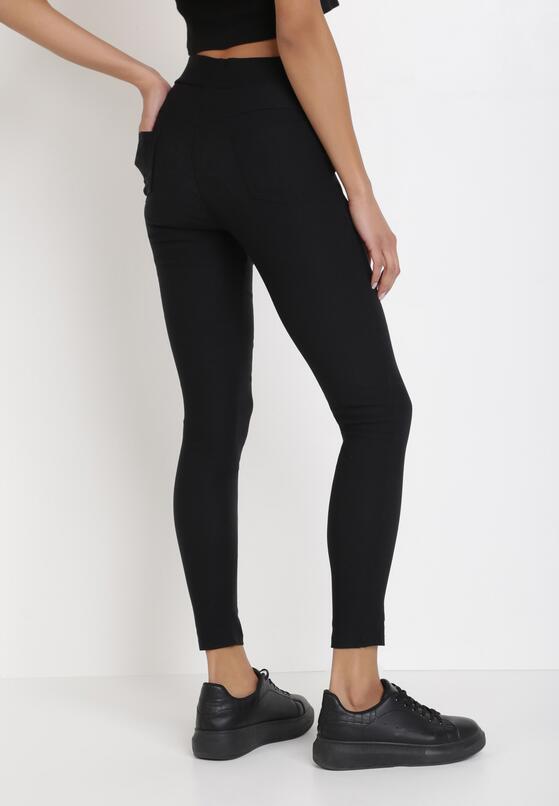 Czarne Spodnie Skinny Sachael