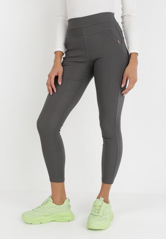 Ciemnoszare Spodnie Skinny Sachael