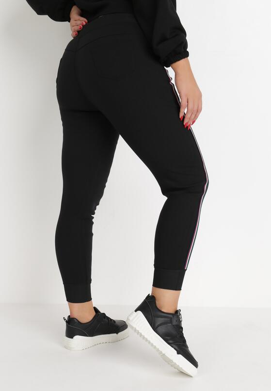 Czarne Spodnie Dresowe Sariel