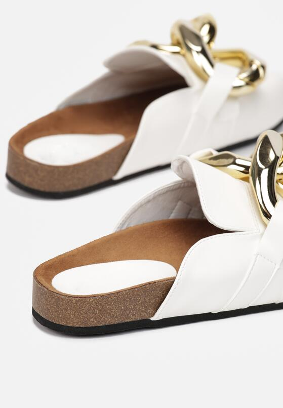 Białe Klapki Kallireanes