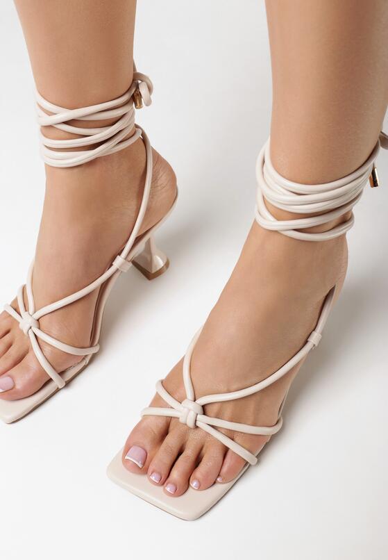 Beżowe Sandały Kylura