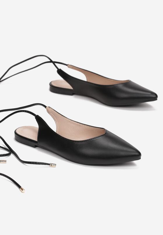 Czarne Sandały Haamiah