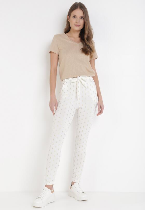 Białe Spodnie Skinny Kasdeja