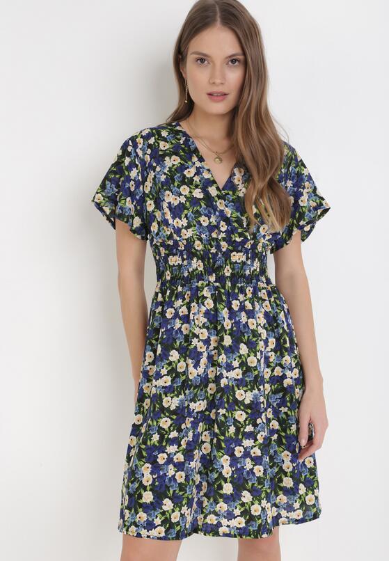 Granatowa Sukienka Agla