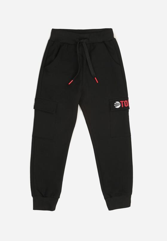 Czarne Spodnie Dresowe Rhenore