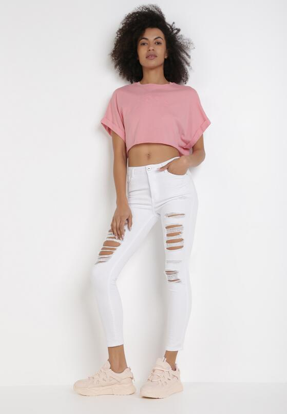 Białe Spodnie Skinny Chaphia