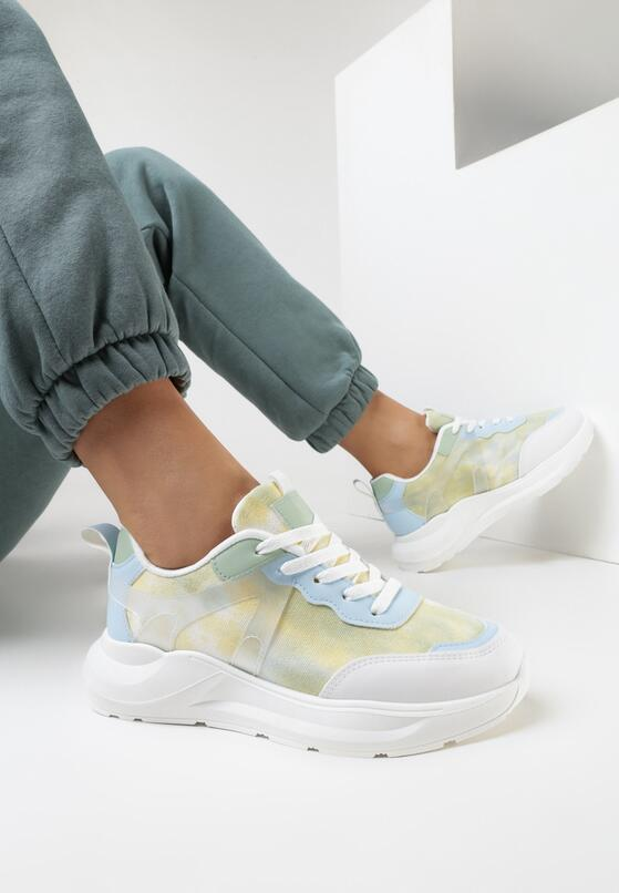 Biało-Miętowe Sneakersy Laomellia