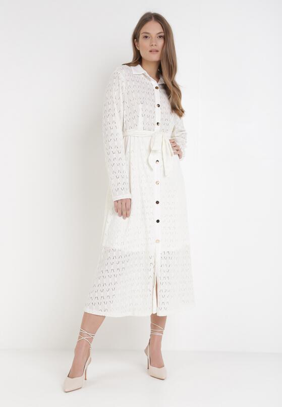 Kremowa Sukienka Aqiarial