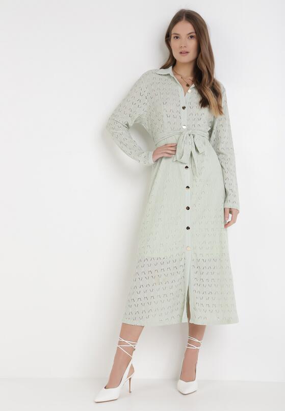 Miętowa Sukienka Aqiarial