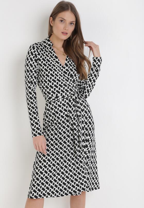 Czarno-Biała Sukienka Phrisesis