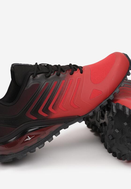 Czerwono-Czarne Buty Sportowe Yava