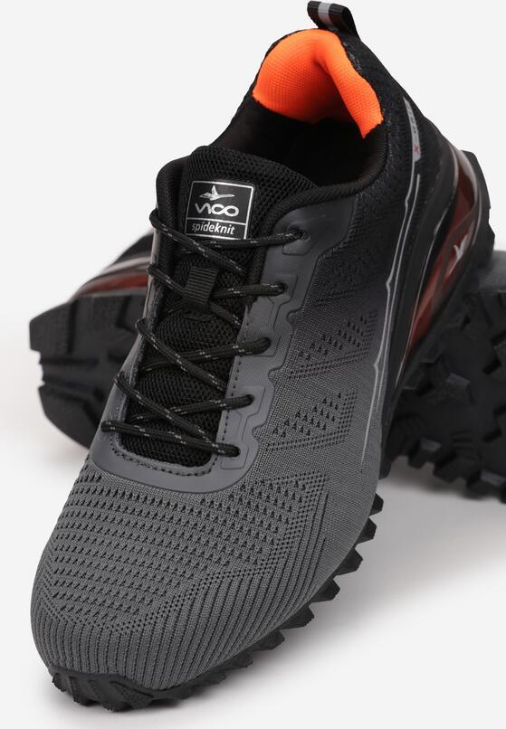 Szaro-Czarne Buty Sportowe Corinara