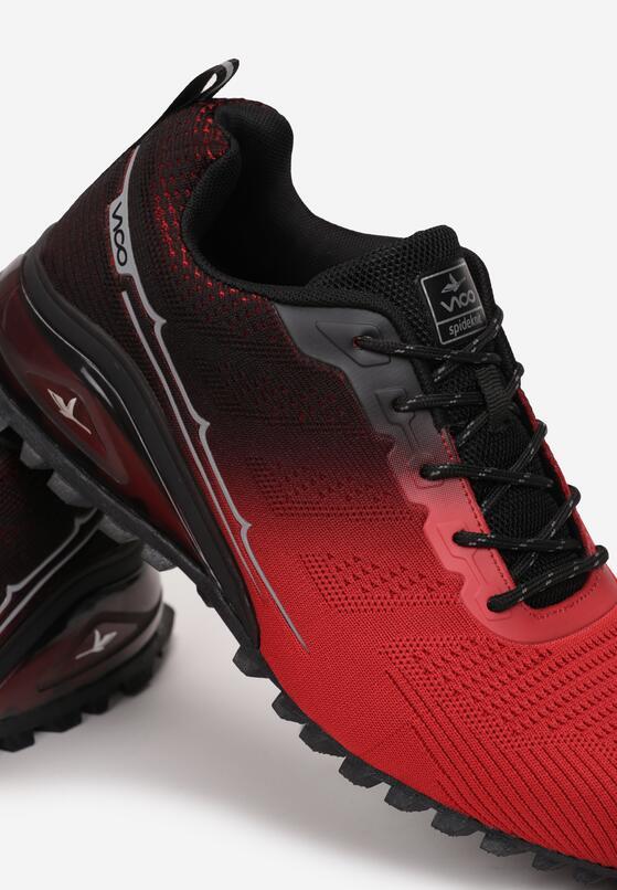 Czarno-Czerwone Buty Sportowe Corinara