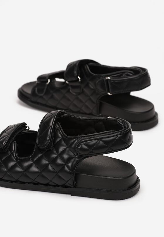 Czarne Sandały Elrinova