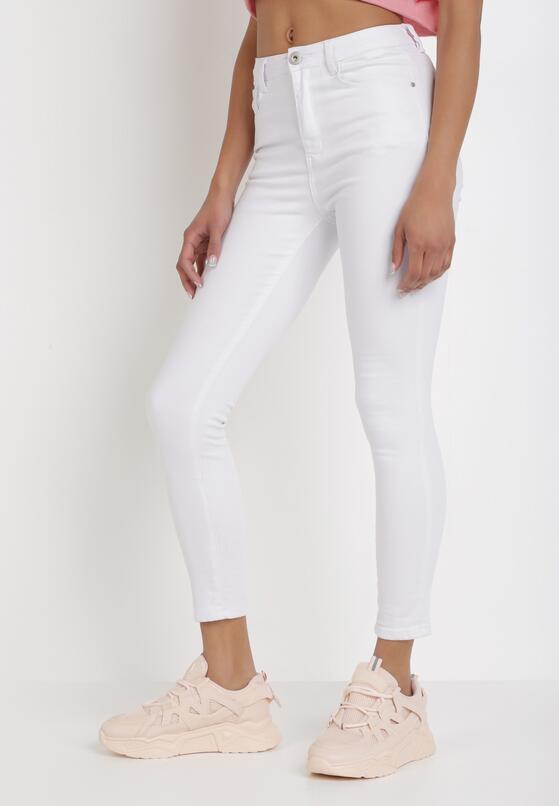 Białe Jeansy Skinny Lilinith