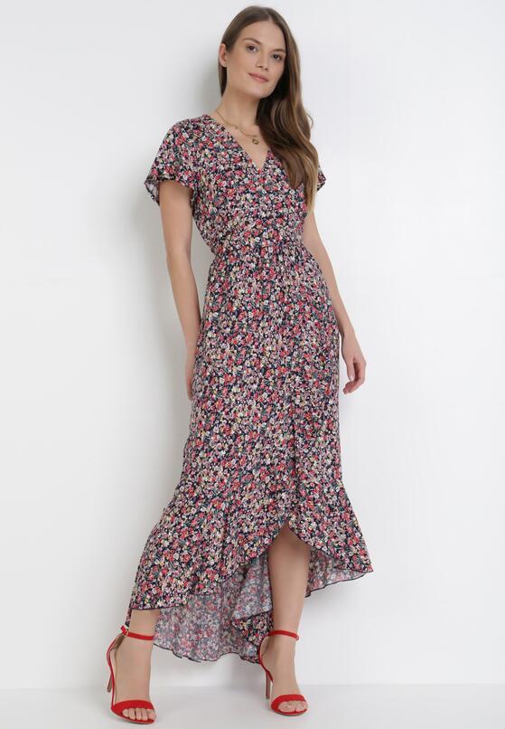 Granatowa Sukienka Mesise