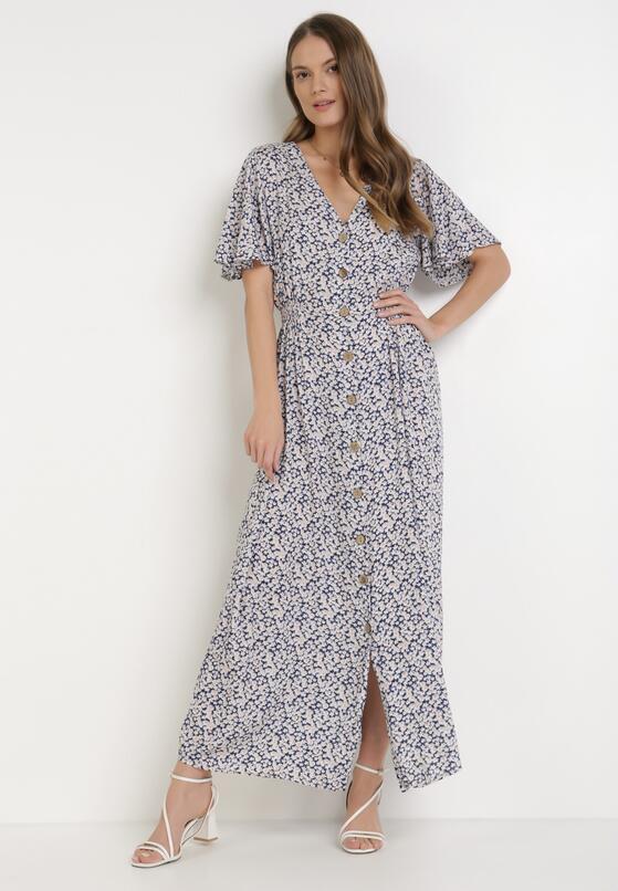 Granatowa Sukienka Aqiarian