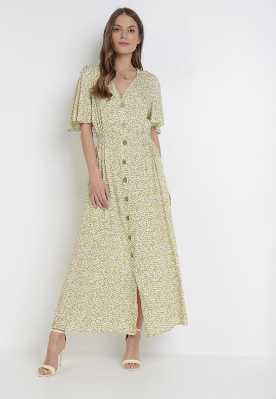 Limonkowa Sukienka Aqiarian