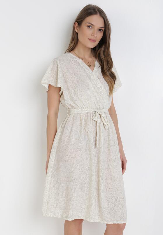 Biała Sukienka Echomeia