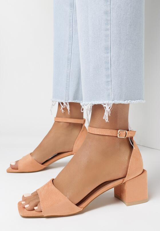 Pomarańczowe Sandały Crialodia