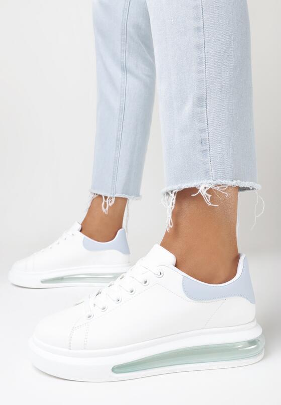 Biało-Niebieskie Buty Sportowe Marymara
