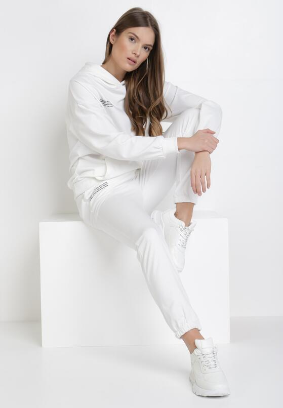 Biały 2-Częściowy Komplet Dresowy Cahrlenne
