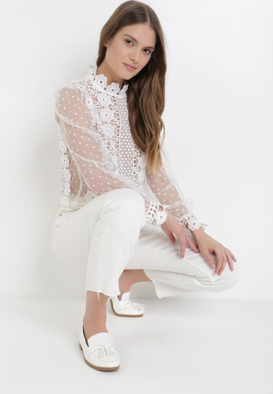 Biała Bluzka Qheseth
