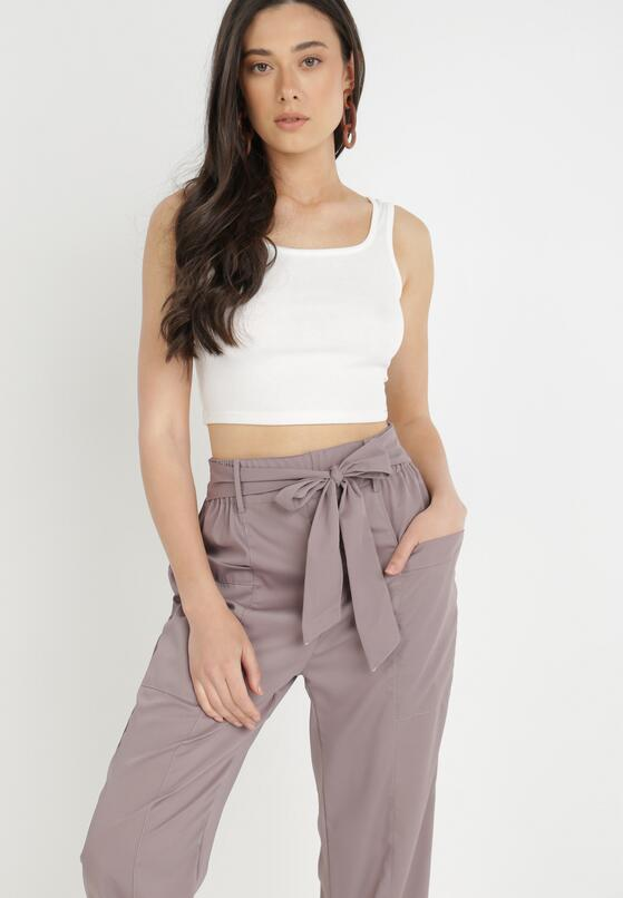 Ciemnofioletowe Spodnie Peness