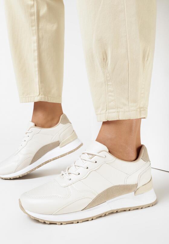 Beżowe Sneakersy Vivilena