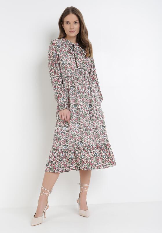 Biało-Różowa Sukienka Lametai