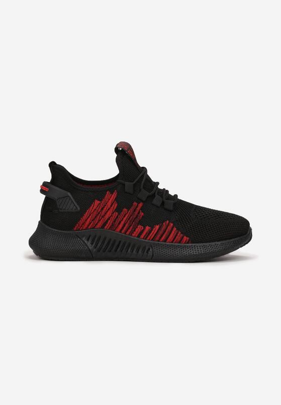 Czarno-Czerwone Buty Sportowe Neacea