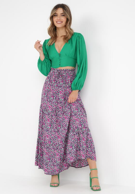 Granatowo-Różowa Spódnica Pallemei