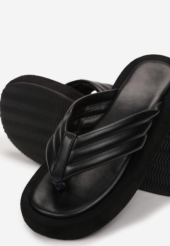 Czarne Klapki Iaopheia