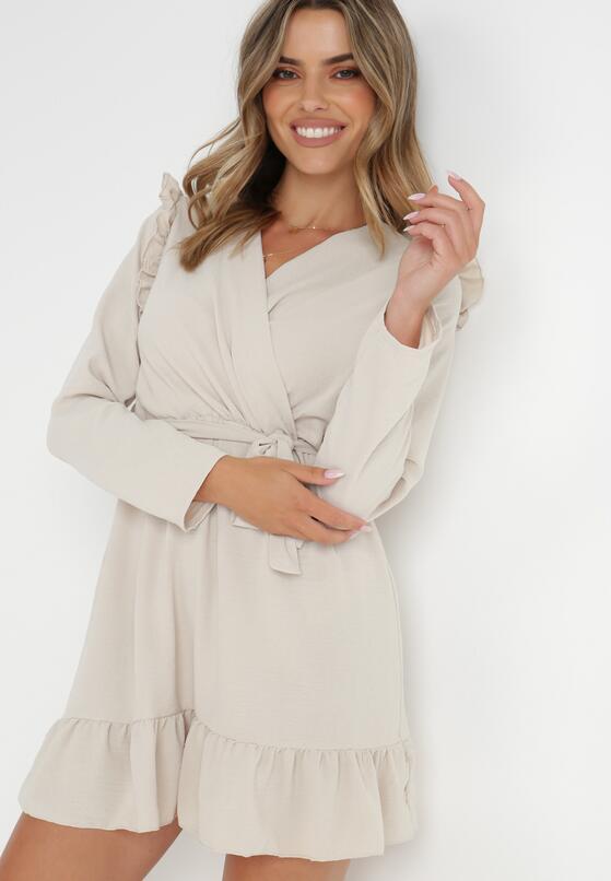 Jasnobeżowa Sukienka Salape