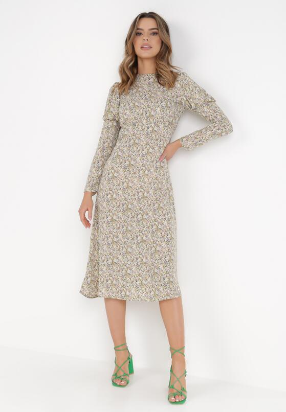 Beżowa Sukienka Eathelure