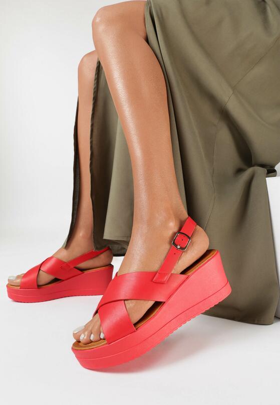 Czerwone Sandały Aphice
