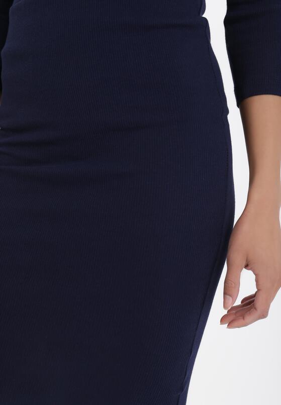 Granatowa Spódnica Anthais
