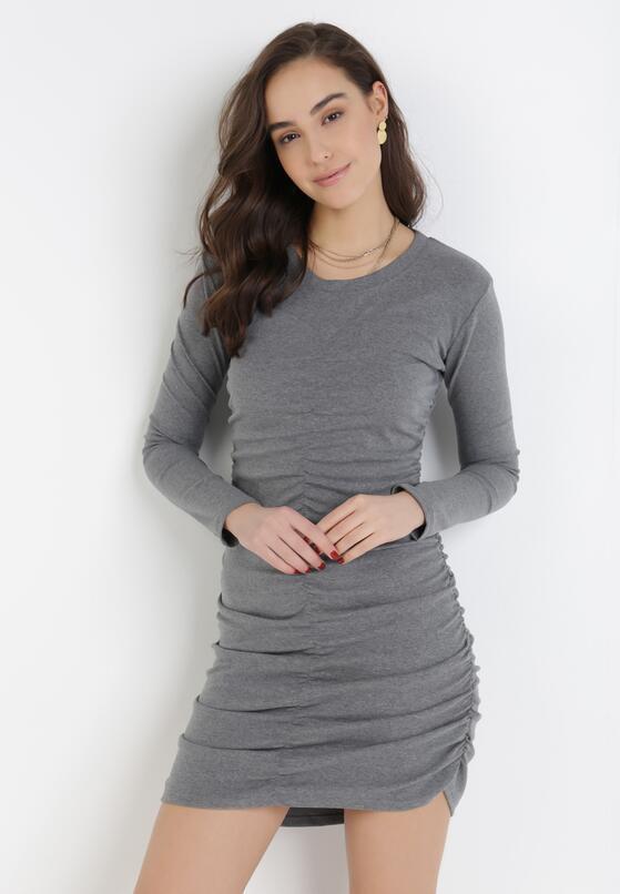 Szara Sukienka Hysiphae