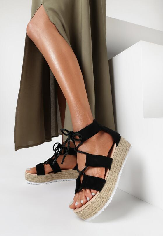 Czarne Sandały Theaniche