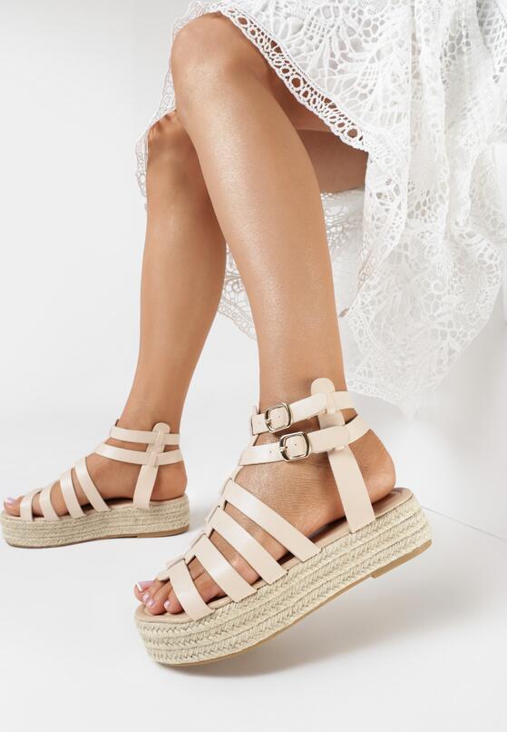 Beżowe Sandały Cnassionis